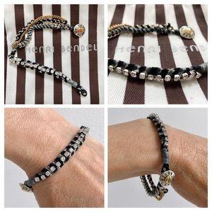 HENRI BENDEL Swarovski & Silk Cord Bracelet